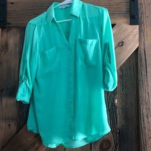 EXPRESS Mint Portofino Shirt